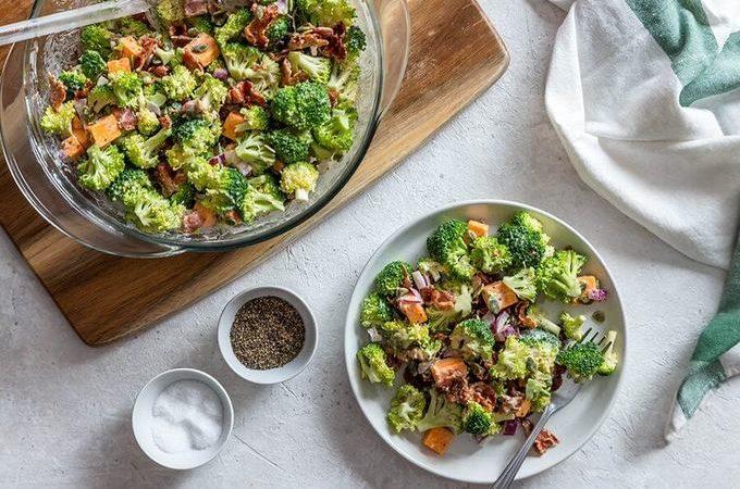 Острый кето салат с брокколи