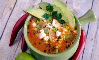 Кето острый суп с чили