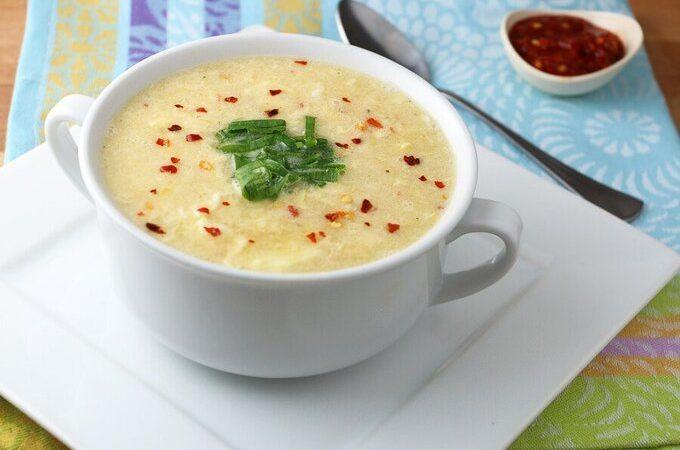 5-минутный кето яичный суп