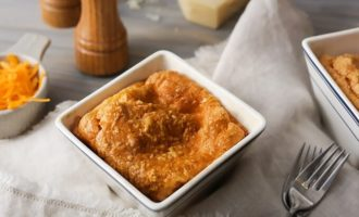 Кето сырное суфле