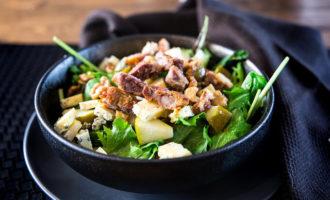 Кето салат из свинины