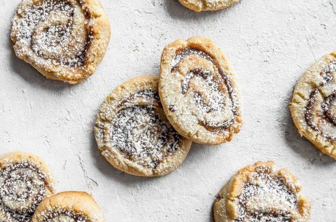 Песочное кето печенье с корицей
